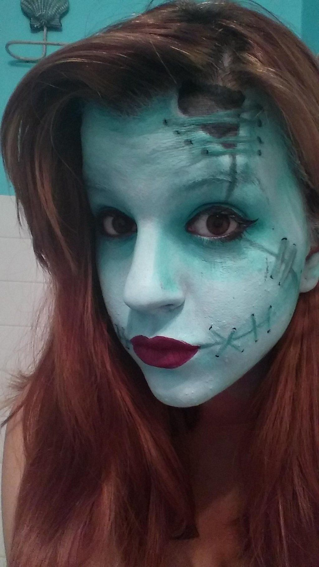 Sally makeup from Nightmare Before Christmas by BevanMania
