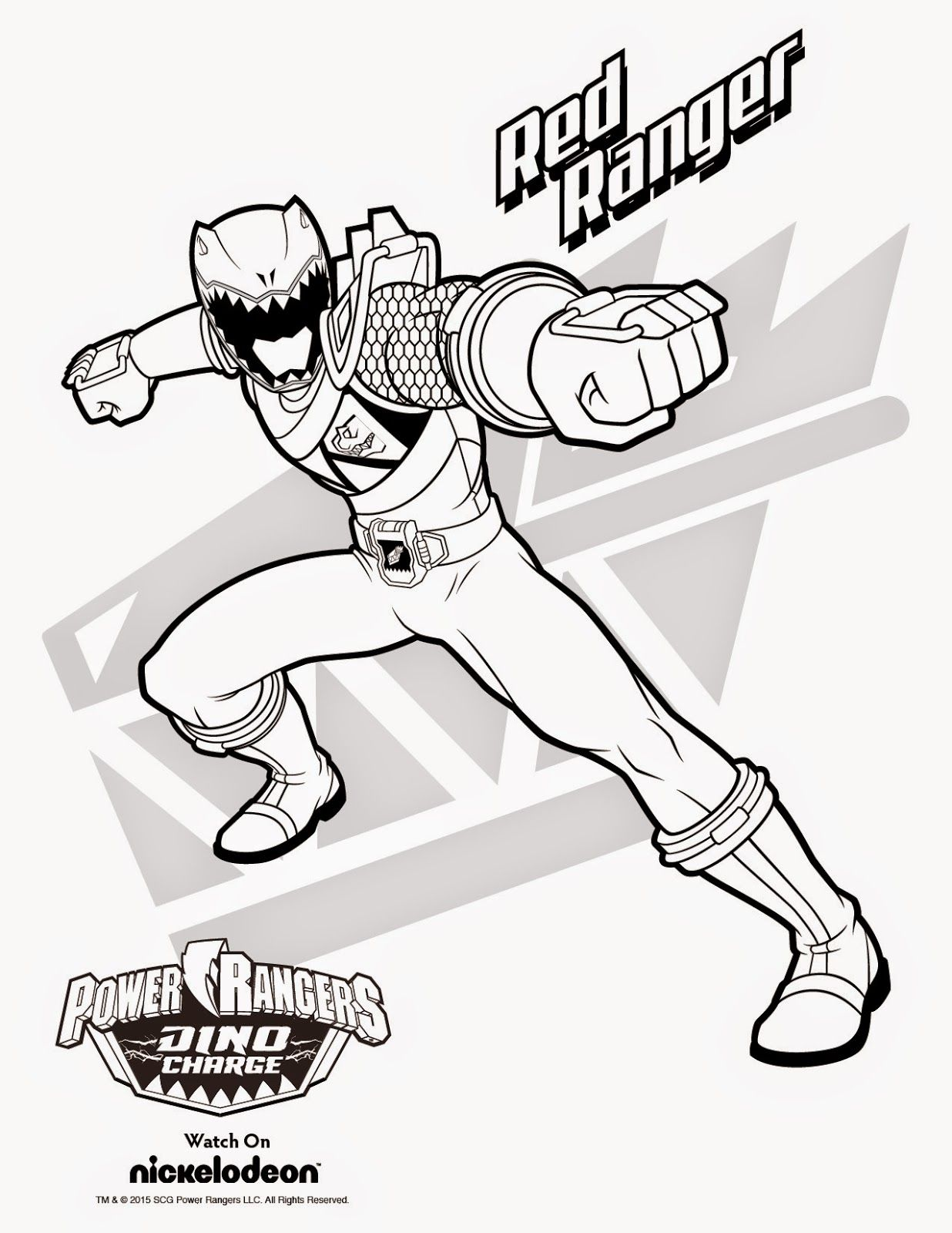 Free power ranger coloring pages online - Power Rangers Dino Thunder Riding Robot Coloring Page Related Image