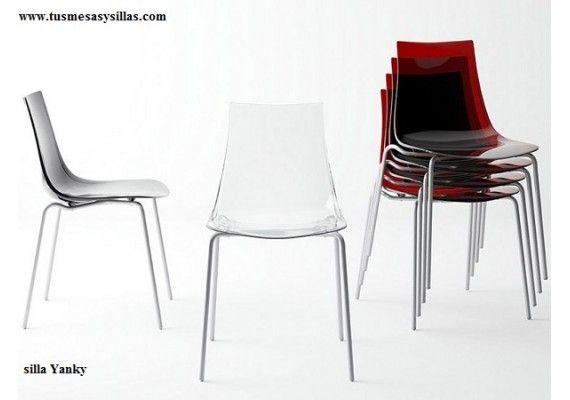silla cocina moderna apilable Yanky de diseño para cocina y comedor ...