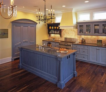 Blue And Yellow Kitchen Traditional