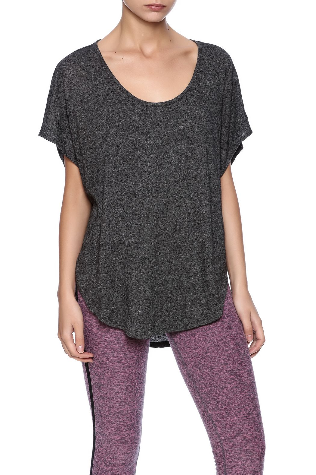 Light airy oversizedtee with wide scoopneck.   Scalloped Tee by Beyond Yoga. Clothing - Tops - Short Sleeve Clothing - Tops - Tees & Tanks Clothing - Tops - Casual Iowa