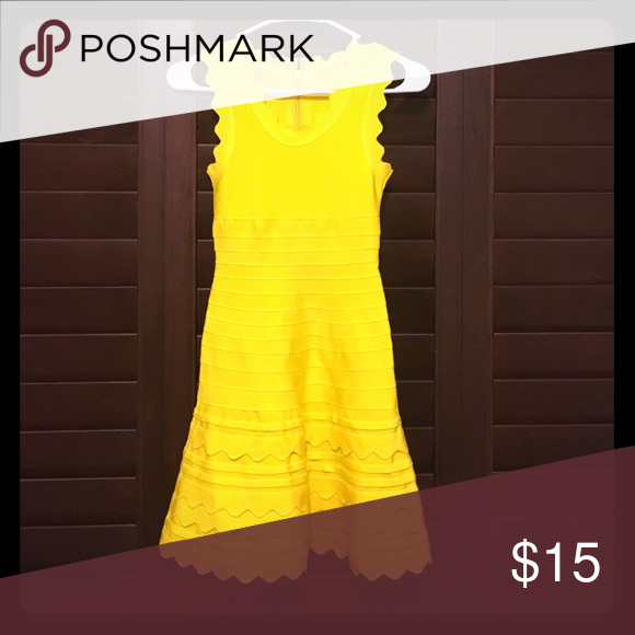 Cute little yellow dress. Casual wear+formal wear Great materials. Brand new Dresses Midi