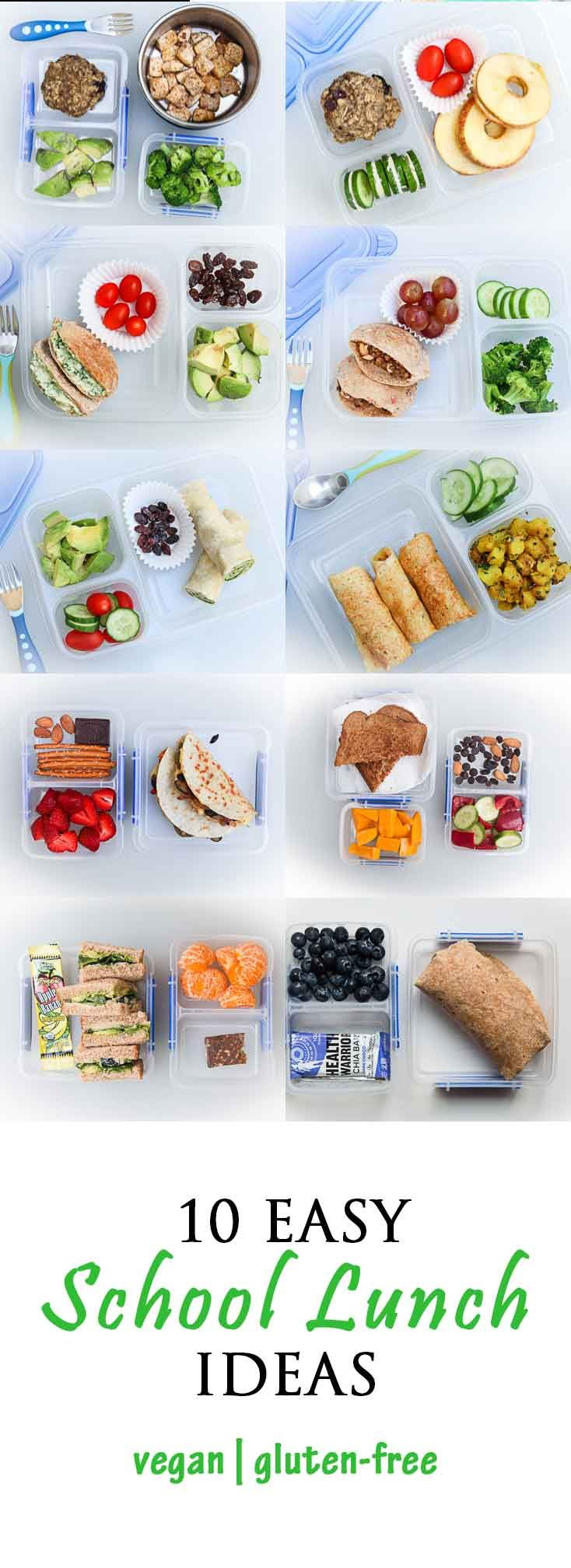 10 Easy School Lunch Ideas Vegan