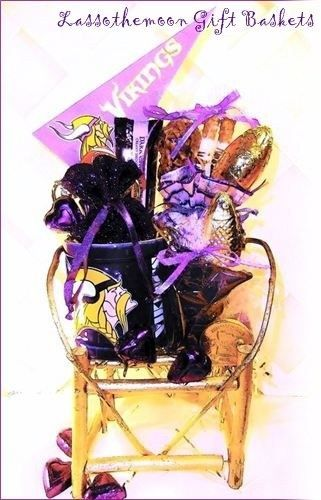 a3c6f10f7 We Love Our Minnesota Vikings Gift Basket. Sweet #mnvikings #vikings # minnesota #wedding #marriottmwest