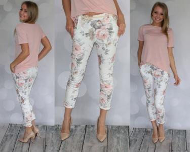 Spodnie W Kwiaty Z Czym Nosic Szukaj W Google Fashion Capri Pants Pajama Pants
