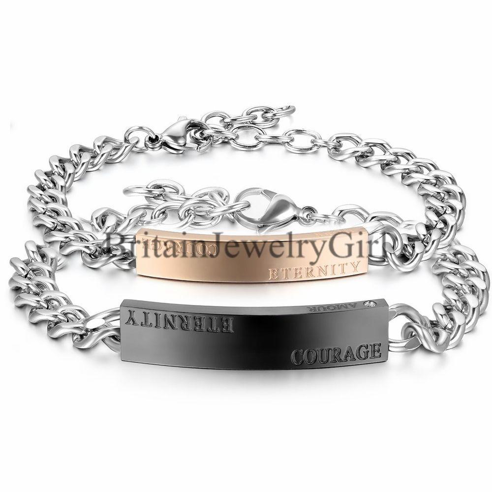 Eternity Courage Amour Men Women Stainless Steel Love Bangle Bracelet Unbranded