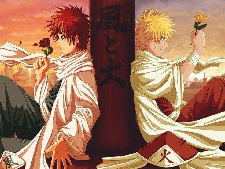 Gaara And Naruto Uzumaki Wallpaper Kazekage And Hokage