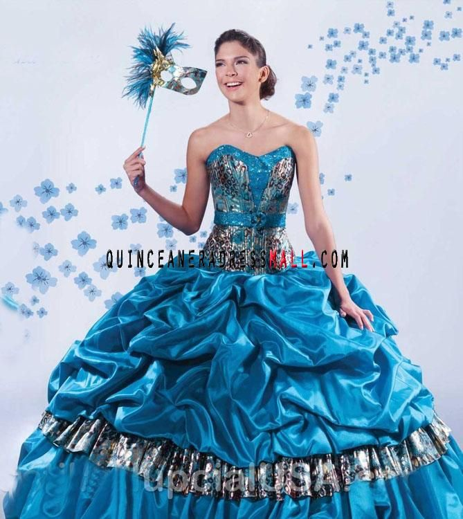 detachable quinceanera dresses blue and purple | blue puffy zebra ...
