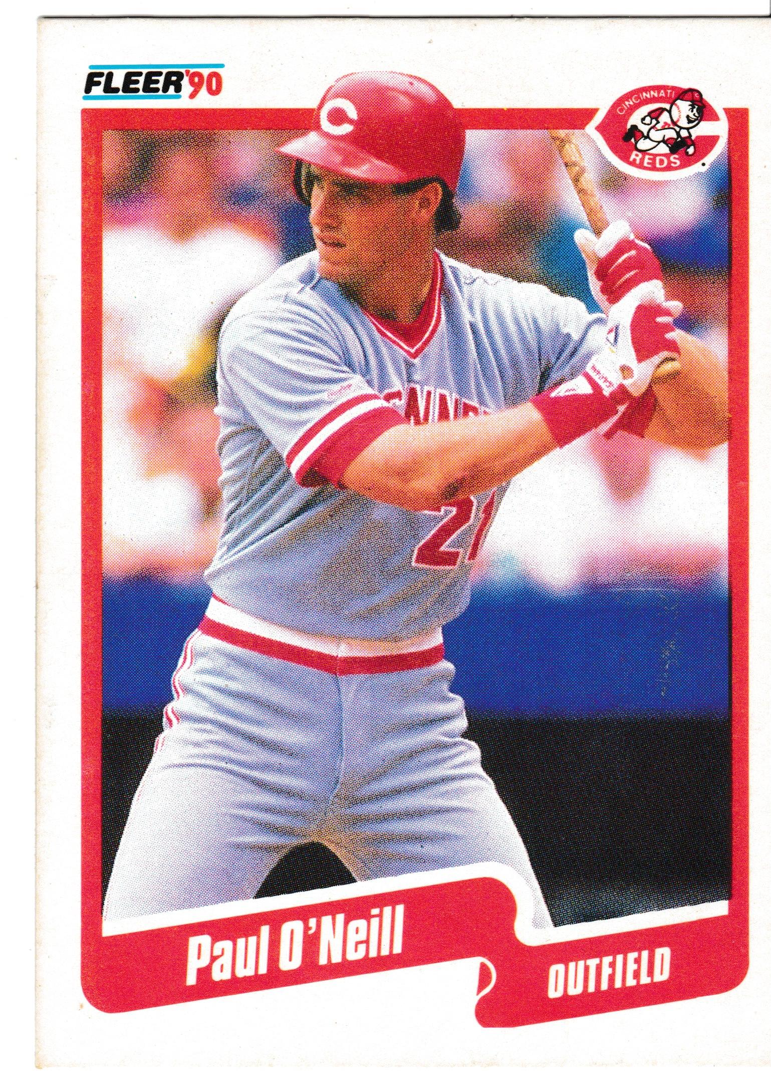 1990 Fleer Main Set Paul Oneill Number 21 Batting