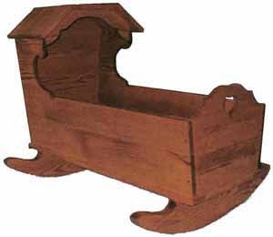 Wooden Hooded 1800 S Cradle Fun To Make And Very