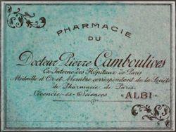Vintage Paris Pharmacie Label, Exclusive to VAD@
