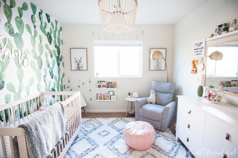 cactus and llama baby girl nursery reveal baby girls nursery rh pinterest com