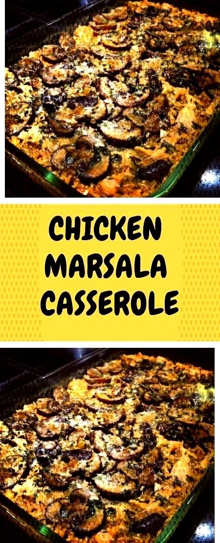 MARSALA CASSEROLE   INGREDIENTS 2 tablespoons of butter 2 tablespoons olive oil 1 small onion, di