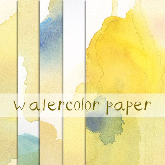 Watercolor Paper Image Pack Clip Art Background Border Template
