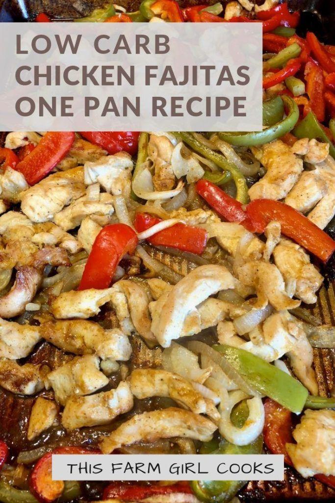 Low Carb Chicken Fajitas - Sheet Pan images