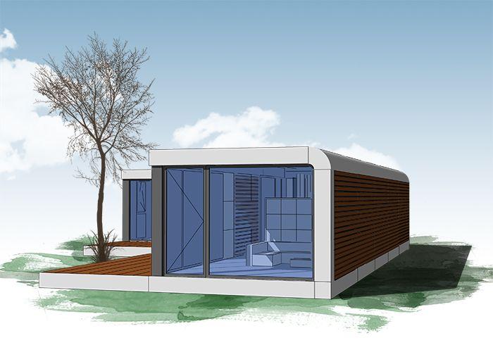 Neues wohnen im cubig designhaus minihaus tiny houses for Mobiles wohnen im minihaus