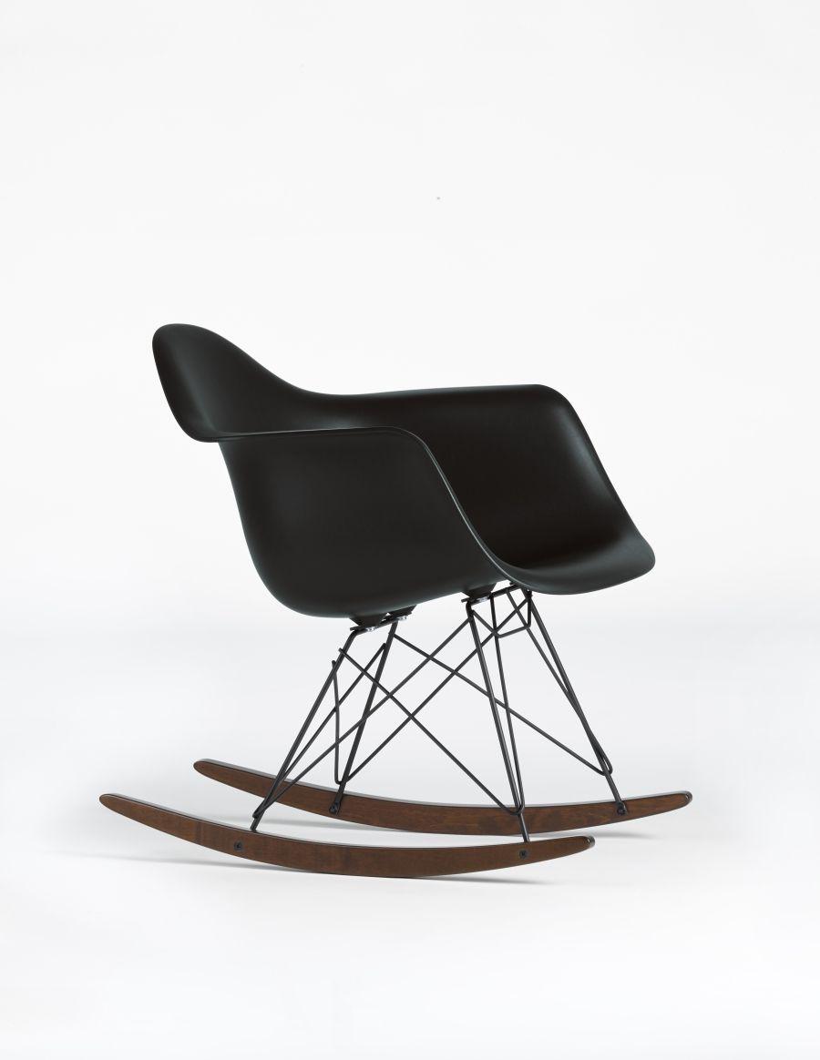 vitra rar eames plastic armchair black collection charles