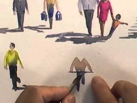 Watercolour Figures Lesson - Simplifying Figures (Part 2) - YouTube,  ... Watercolour Figures Lesson - Simplifying Figures (Part 2) - YouTube,