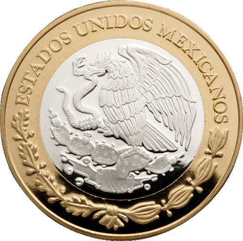 Herencia Numismatica De Mexico Serie Ii Bimetalicas Banco De Mexico Monedas De Plata Monedas Moneda Mexicana