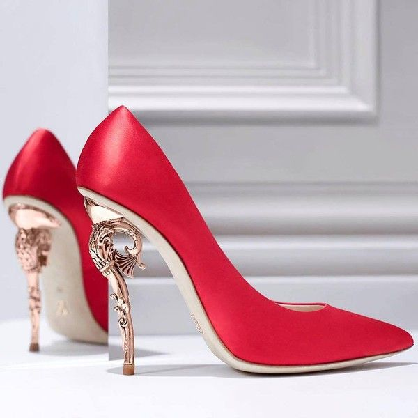 """Ralph & Russo on Instagram: """"The Ralph & Russo 'Baroque' heel pumps... ❤ liked on Polyvore featuring shoes, pumps and heels & pumps"""