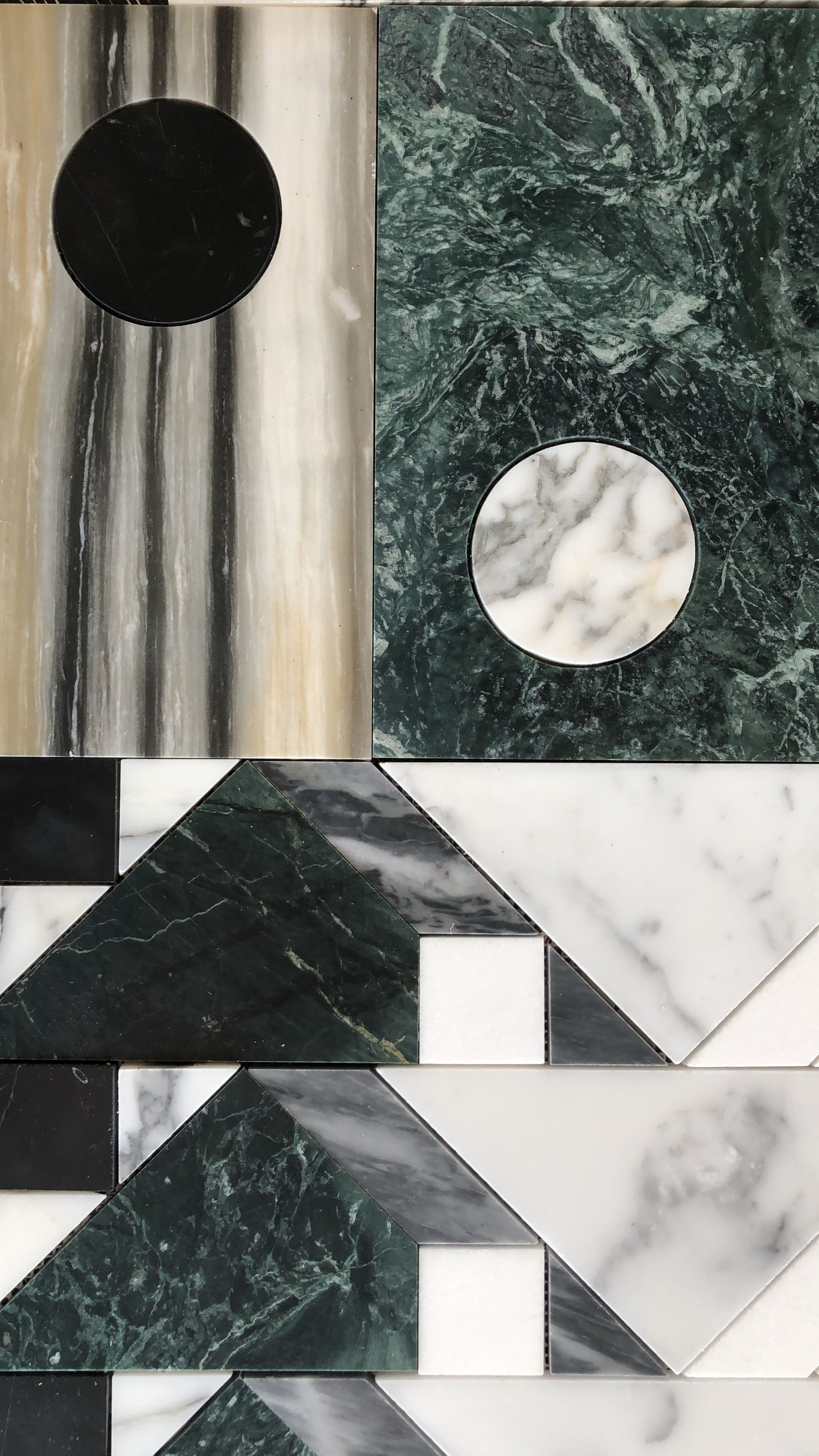 Kelly wearstler x ann sacks liaison marble mosaic tiles - Liaison equipotentielle salle de bain ...