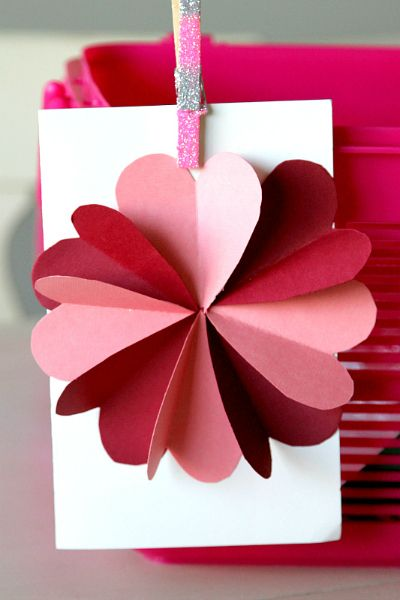 DIY Flower by Hearts Card Tutorial  Heart cards Card tutorials