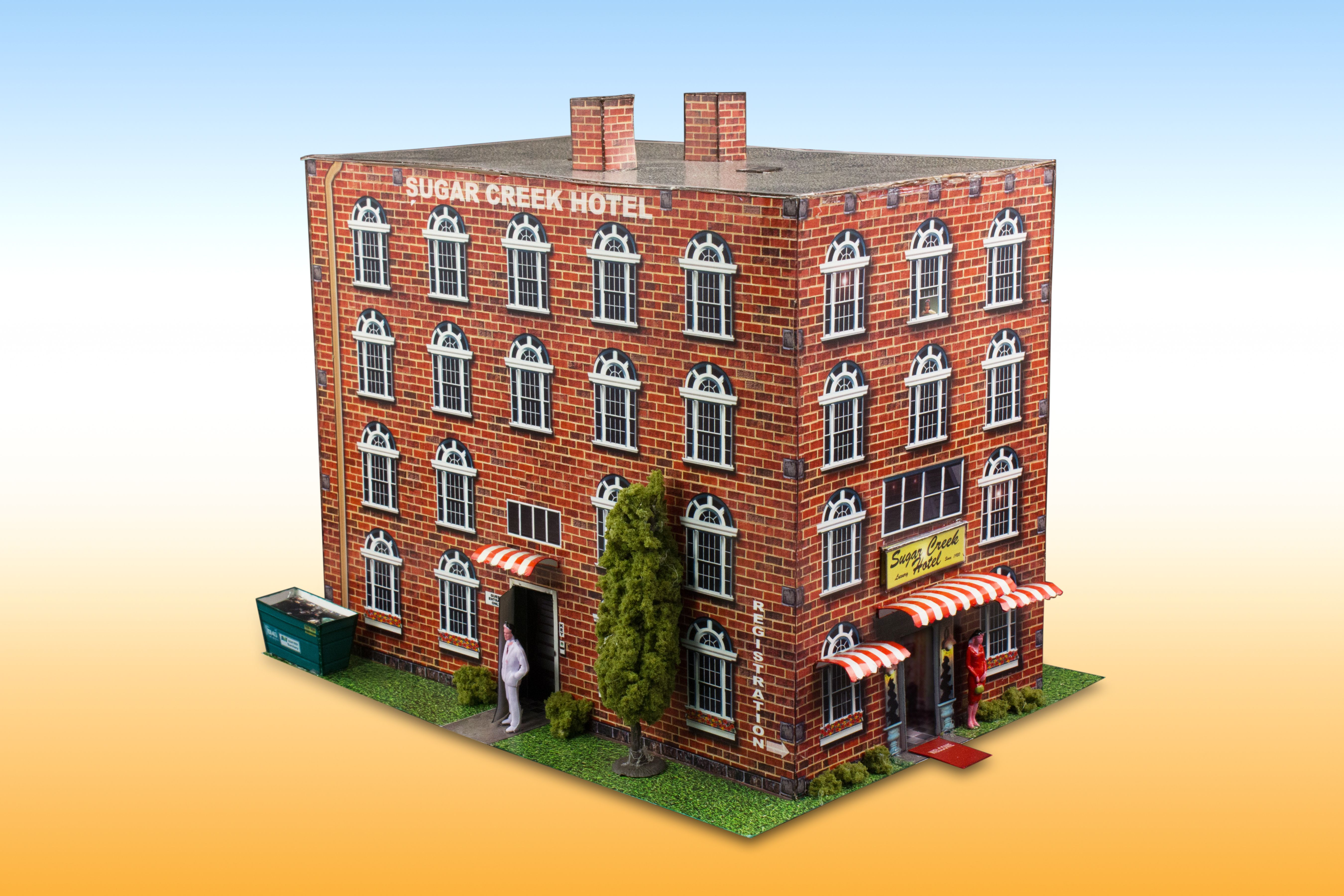 """""""Sugar Creek Hotel"""" Photo Real Scale Building Kit is a"""