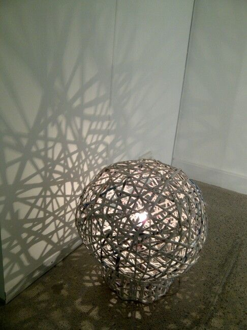 Best out of waste... newspaper lamp.. | Artworks I created ...