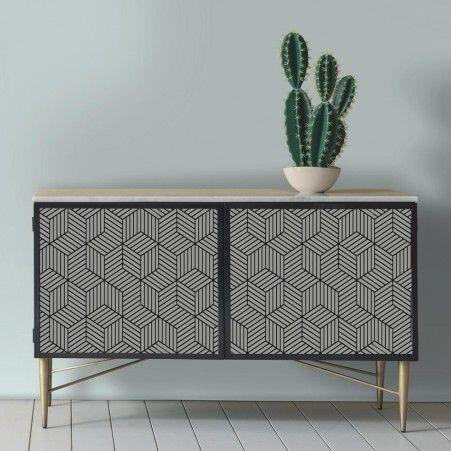 Striped Hexagon Peel And Stick Wallpaper Decor Home Decor Wallpaper Furniture