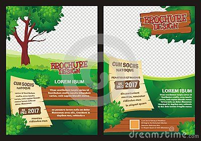 HalfFold Template Of Scenery Cartoon Flat Design For Advertising