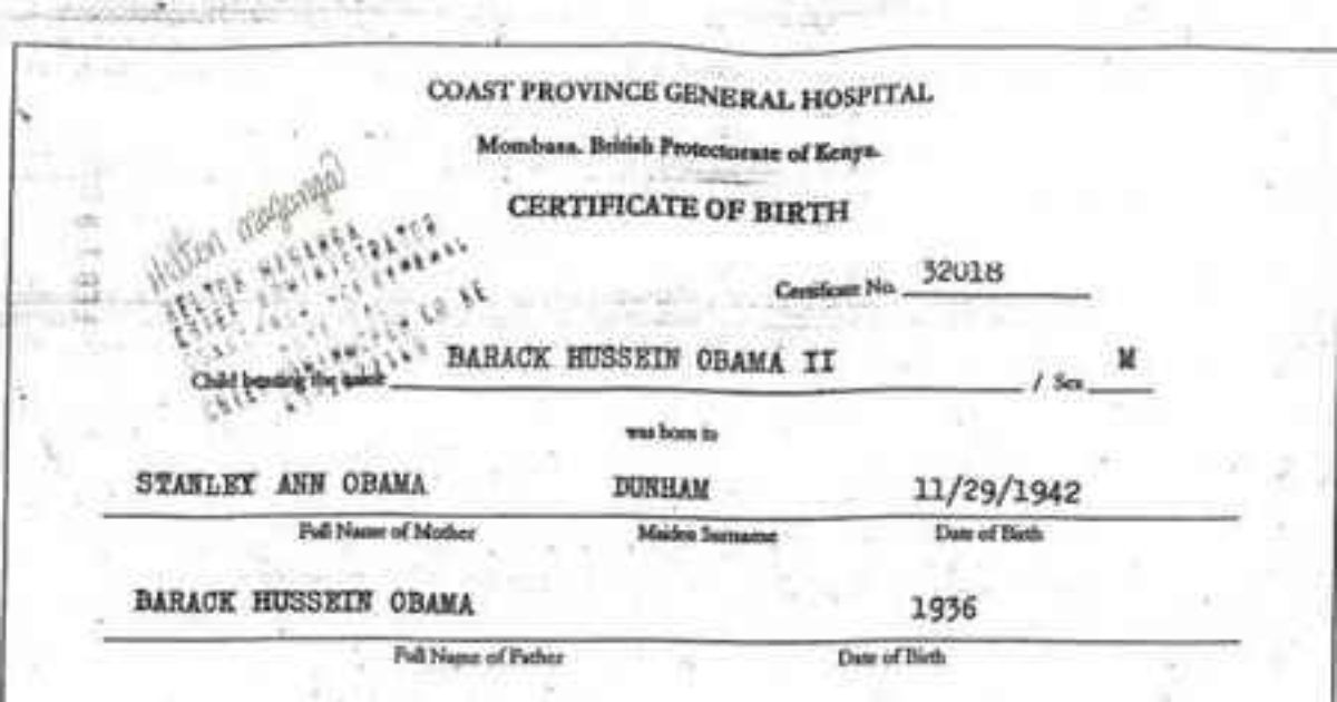 Was Obamas Original Kenyan Birth Certificate Found Is It A Hoax