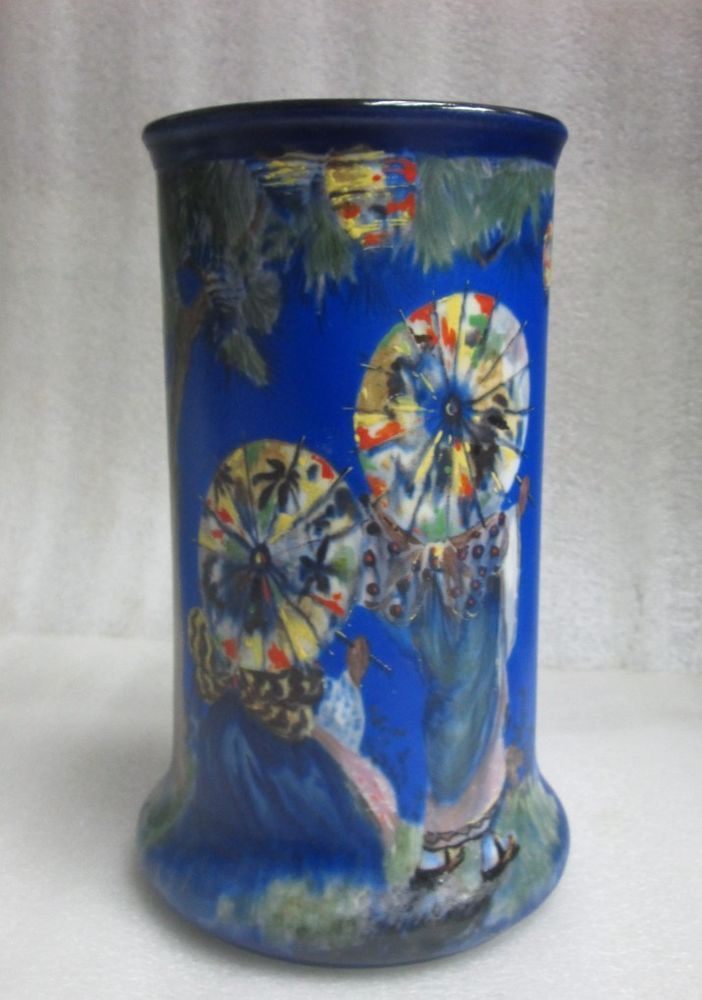 Antique Wilkinson Burslem Vase Painted Artist Signed F Ridgway