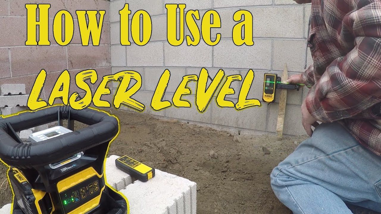 How to use a Laser Level for concrete levels (New Dewalt