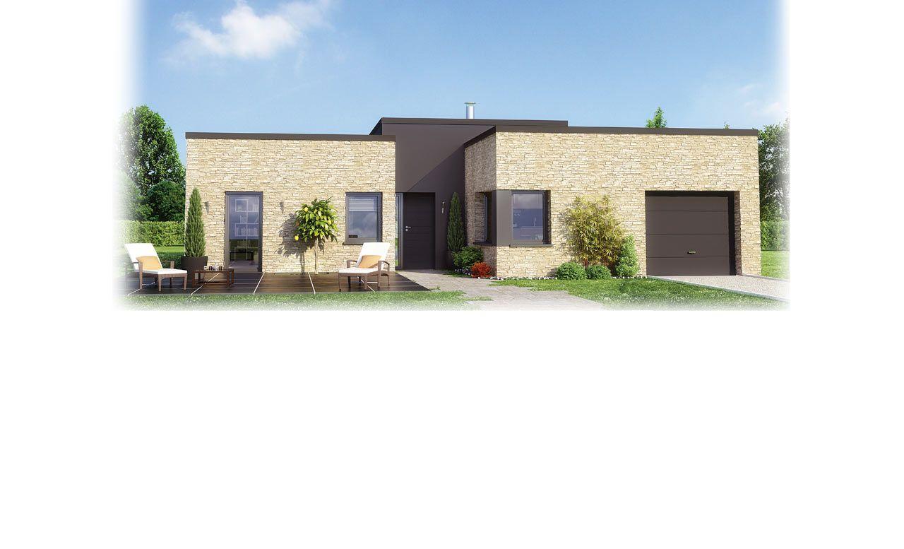 maison familiale lumena maison contemporaine toit plat architecture pinterest nord. Black Bedroom Furniture Sets. Home Design Ideas