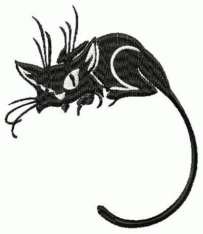 Free Embroidery Design Black Cat Free Download See Also Machine