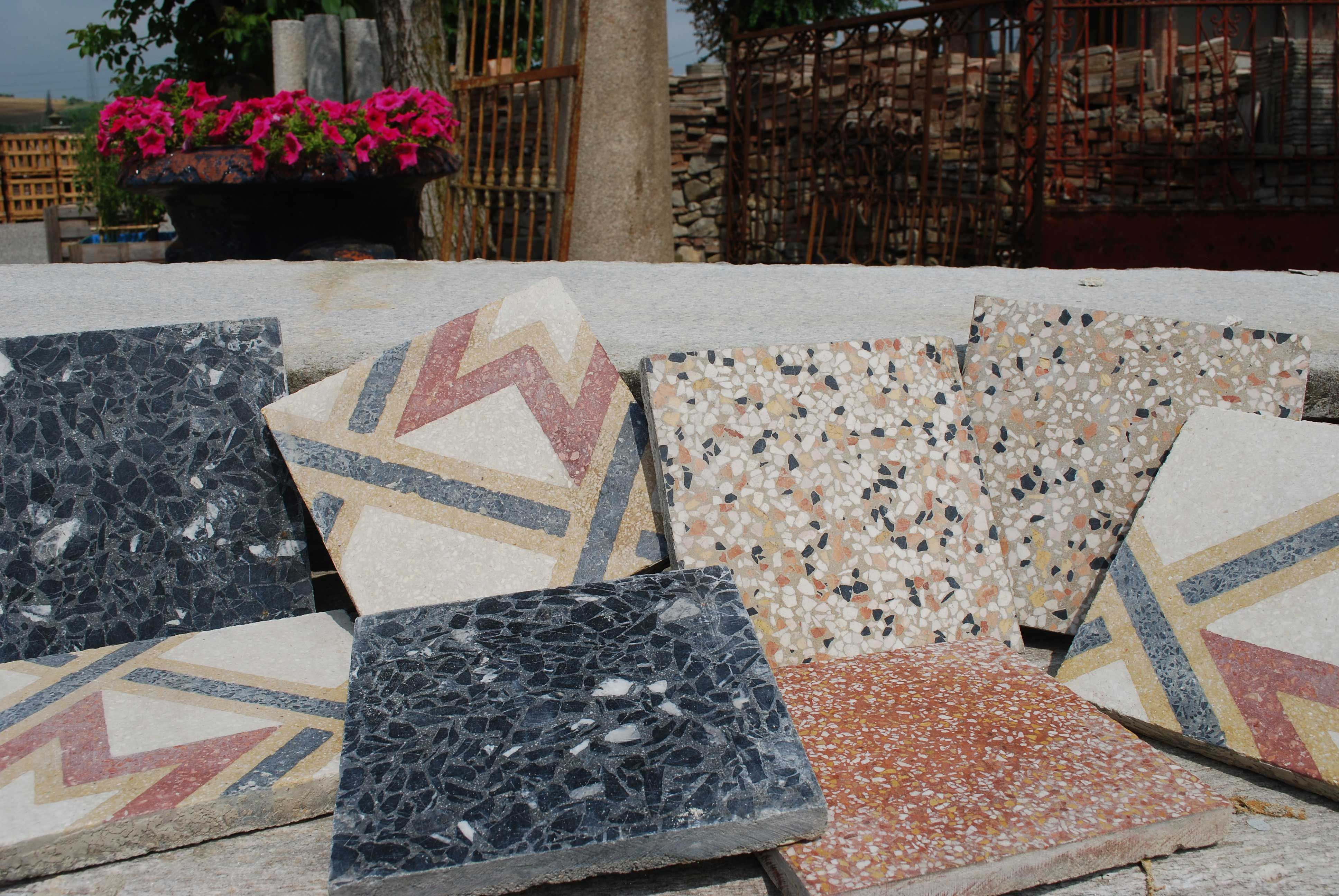Mattonelle di cemento e graniglia cementine e graniglie antiche