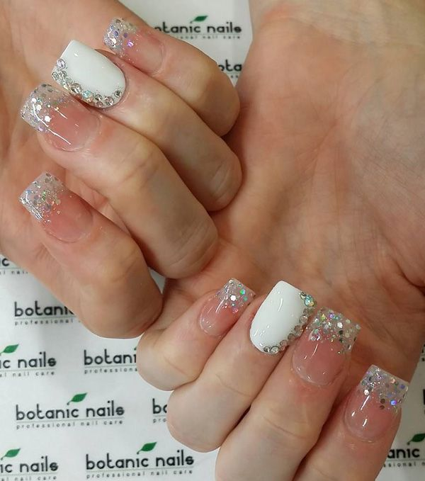Either With A Clear Nail Polish Or White Base Diamonds And Rhinestones Works Perfectly Fine This Is More Of Formal Look So You Might Want For