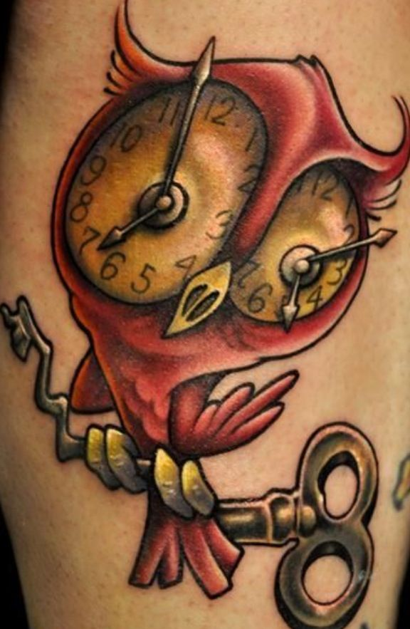 New school owl dont know i think it 39 s quit funny for Funny dog tattoos