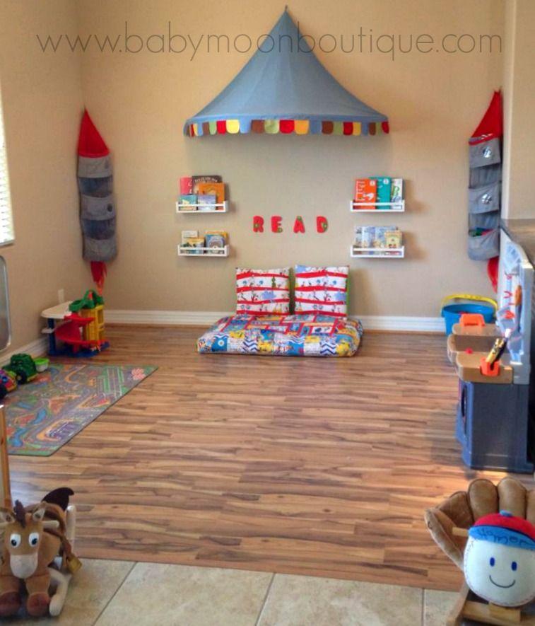 Playroom Decor Ideas decorate that playroom. diy playroom decor, reading corner and