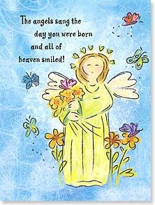Birthday Card Staff Pick Scripture Angels Sang The Day You Were Born Bee Stu Christian Birthday Cards Christian Birthday Greetings Happy Birthday Angel