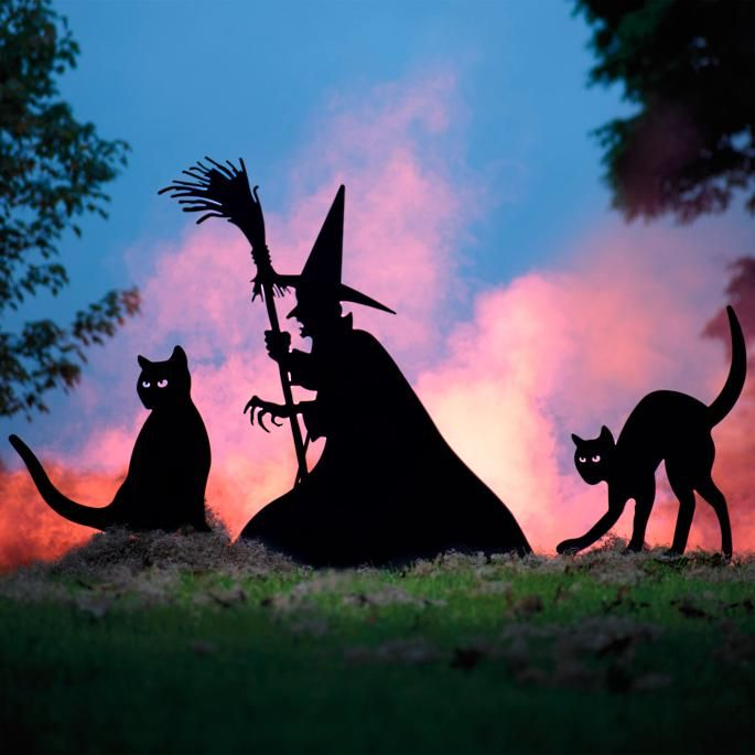 Witch Silhouette $129, Cat Silhouettes $39 each (with discount of 20