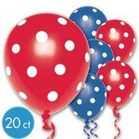 Red & Blue Polka Dots