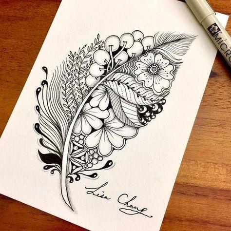 #Plume Plume   Feder   Federzeichnung   kreative kunst   kreative skizzen   vers…