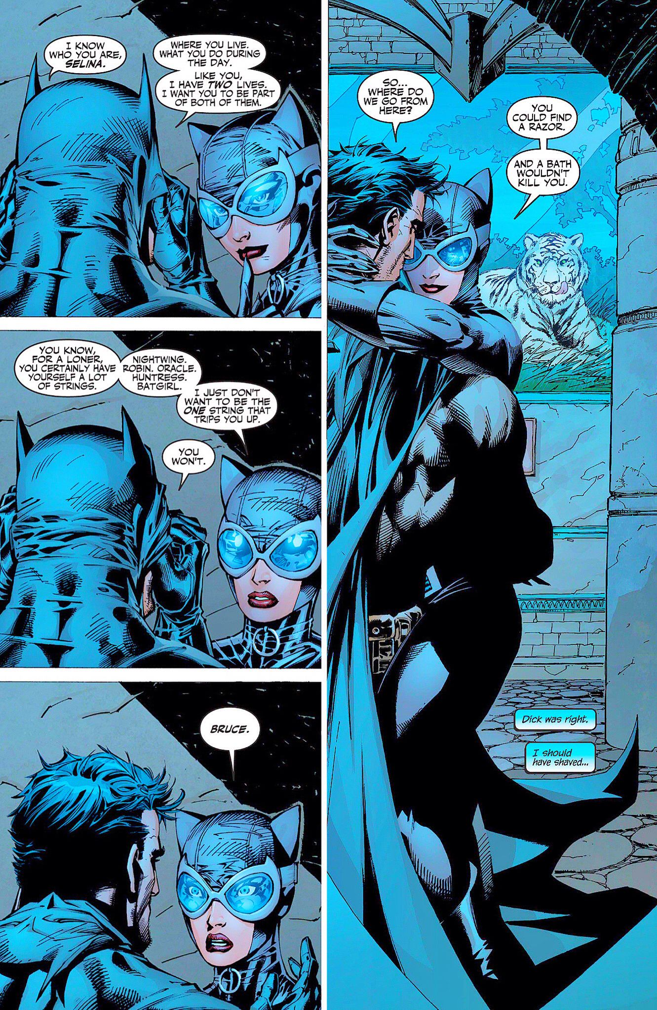 Catwoman Batman In Batman Hush Batman Hush Batman Comics Batman