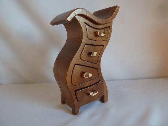Wooden+Jewelry+Box++Solid+Walnut+Hula204+W3+by+PaulSzewc+on+Etsy,+$200.00