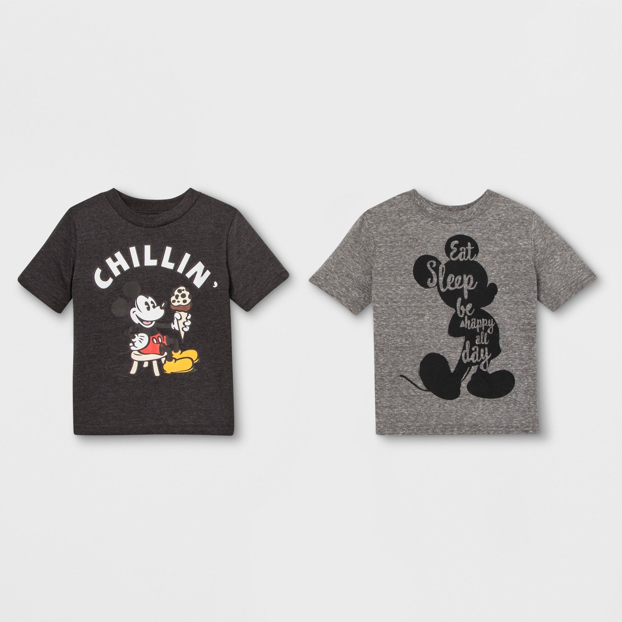 786cd0bd Toddler Boys' 2pk Disney Mickey Mouse & Friends Mickey Mouse Short Sleeve T- Shirts - Gray 2T, Multicolored