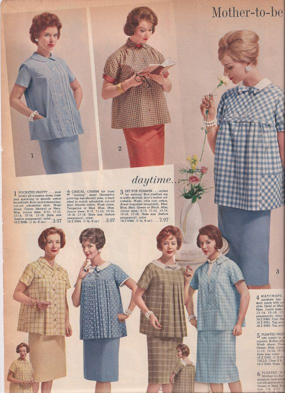 65ea1a3257443 Vintage Maternity Fashion Old Catalog Pages from by VintagePackRat ...