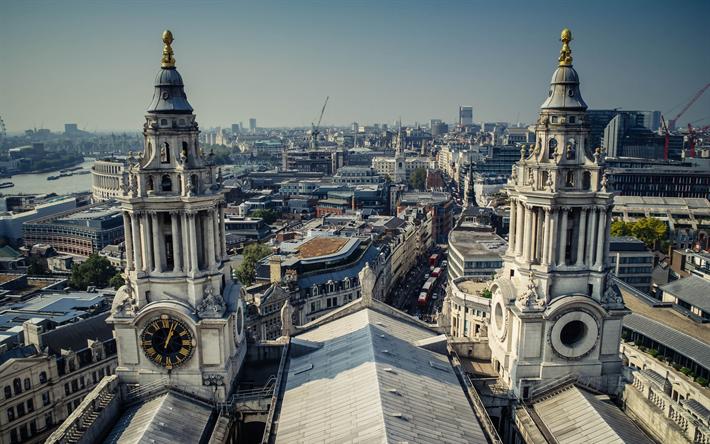 Lataa kuva Lontoo, kaupungin panorama, Thames, kappeli, Iso-Britannia