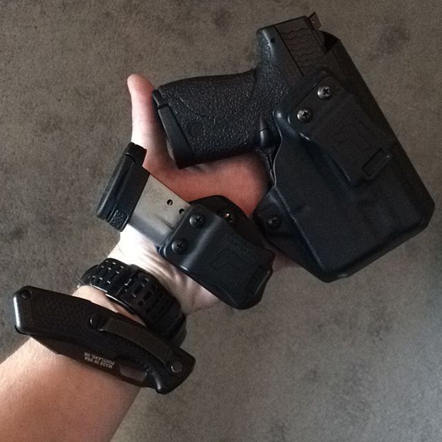M&P Shield 9/40 w/Streamlight TLR-6 IWB/AIWB Kydex Holster - ProfileLB Holster