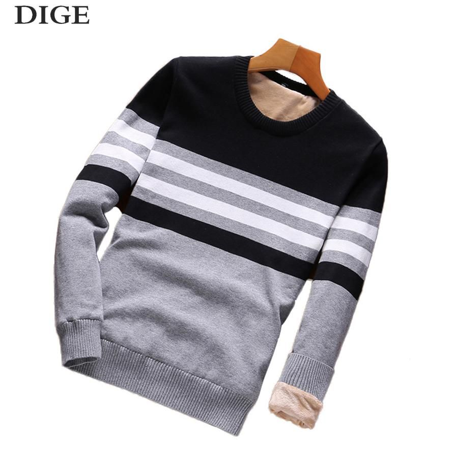 2018 Winter New Sweaters Men Fashion Style Autumn Winter Patchwork Knitted  Quality Pullover Men O-neck Casual Men Sweater B0279 68b13b2fcc34